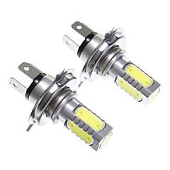H4 11W Wit Licht LED koplamp lamp (10-24V, 2 stuks)