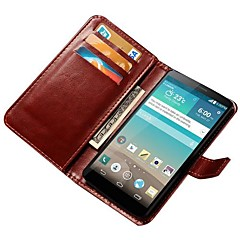Voor LG hoesje Kaarthouder / Portemonnee / met standaard / Flip hoesje Volledige behuizing hoesje Effen kleur Hard PU-leer LG LG G3