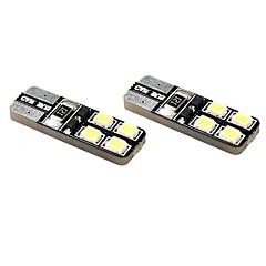 T10 Automatisch Motor Wit 1W 5800-6300Dashboardverlichting Leeslamp Nummerplaatverlichting Zijmarkeringslichten Richtingaanwijzer