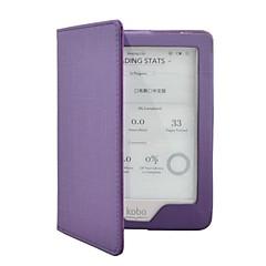 Tímido moda urso ™ caso capa de couro inteligente pu para kobo glo 6 polegadas ebook