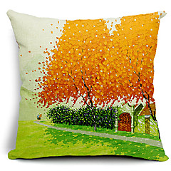 Autumn Theme Cotton/Linen Decorative Pillow Cover