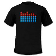 Door geluid en muziek geactiveerde spectrum VU-meter EL Visualizer LED T-shirt (4xAAA)