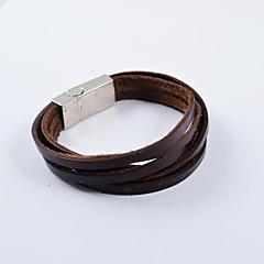Heren Lederen armbanden Uniek ontwerp Kostuum juwelen Modieus Leder Cirkelvorm Sieraden Sieraden Voor Dagelijks Causaal Sport Kerstcadeaus
