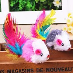 Zabawka dla kota Zabawki dla zwierząt Interaktywne Zabawka z piórkami Myszka Tekstylny