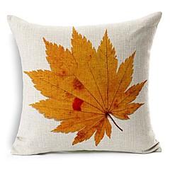őszi levél pamut / len dekoratív párna fedél