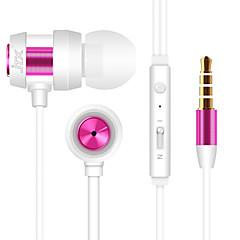 JTX-702 3.5mm redukcji szumów mikrofon w ucho słuchawki dla iPhone i innych telefonów