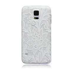 csipke virág mintás TPU puha hátlap tok Samsung Galaxy S3 S4 S5 S6 s3mini s4mini s5mini S6 szélén