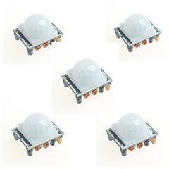 Arduino için 5pcs hc-sr501 kızılötesi insan vücudu indüksiyon modülü pyroelektrik infrared sensör probu
