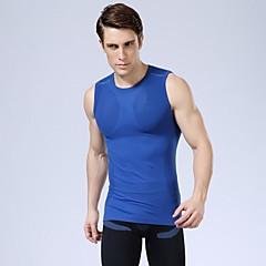 sneldrogend uv atletische heren vest sportkleding compressie bodybuilding sexy shirts 5 kleuren te kiezen