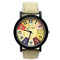 Mulheres Relógio Esportivo Quartzo PU Banda Brilhante Preta Preto Cinzento Marron Vermelho Azul