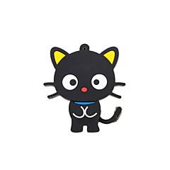 καρτούν νέο μαύρο χαριτωμένο usb γάτα μνήμη 2.0 2GB flash stick κίνησης μανδρών