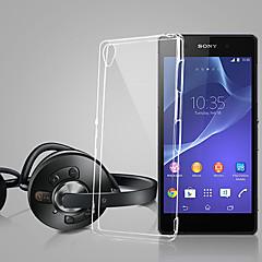 Mert Sony tok / Xperia Z3 Ultra-vékeny / Átlátszó Case Hátlap Case Egyszínű Puha TPU mert Sony Sony Xperia Z3 / Sony Xperia Z2