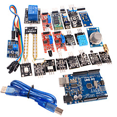 20 arduino için modül kiti ve geliştirilmiş versiyonu uno r3 atmega328p kurulu modülü 1 sensör
