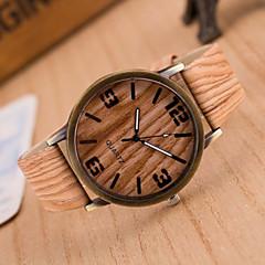 Dames Modieus horloge Vrijetijdshorloge Horloge Hout Kwarts PU Band Wit Bruin Grijs # 1 2 # # 3 # 4 5 #