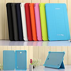 For Samsung Galaxy etui Med stativ Auto Sluk Flip Origami Etui Heldækkende Etui Helfarve Kunstlæder for SamsungTab 4 7.0 Tab 3 7.0 Tab 3
