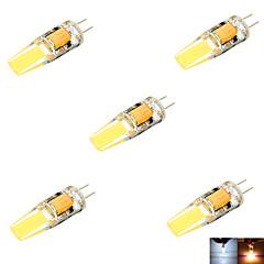 Ywxlight® 5 stk g4 3 w 2 cob 200-300 lm varm hvid / kølig hvid / naturlig hvid mr11 dobbeltstiftet lys (ac / dc 10-14v)