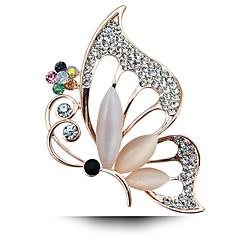der neue Allgleiches Opal Schmetterling Brosche