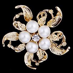 Legierung Perle Schal Clip-Brosche Tuch Accessoires für Frauen Party