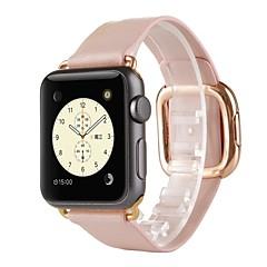 Banda de relogio para relógio de maçã 38 mm fivela moderna pulseira de faixa de reposição de couro genuíno