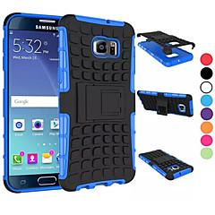 Na Samsung Galaxy Etui Odporne na wstrząsy / Z podpórką Kılıf Etui na tył Kılıf Zbroja PC SamsungS6 edge plus / S6 edge / S6 / S5 Mini /