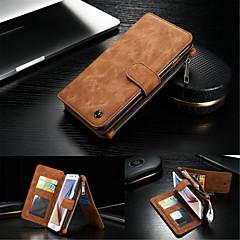 Na Samsung Galaxy S7 Edge Portfel / Etui na karty / Z podpórką / Flip Kılıf Futerał Kılıf Jeden kolor Twarde Skóra naturalna SamsungS7
