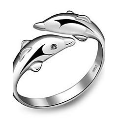 Női Karikagyűrűk mandzsetta Ring Állítható aranyos stílus Divat jelmez ékszerek Ezüst Animal Shape Ékszerek Kompatibilitás Parti