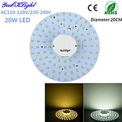 20W Mennyezeti izzók 100 SMD 2835 1800 lm Meleg fehér / Hideg fehér Dekoratív AC 220-240 / AC 110-130 V 1 db.