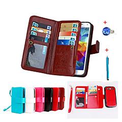 Voor Kaarthouder / Portemonnee / met standaard / Flip / Magnetisch hoesje Volledige behuizing hoesje Effen kleur Hard PU-leer Samsung