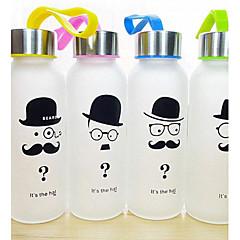 1 adet yaratıcı sakal buzlu cam, 300 ml açık spor taşınabilir su şişesi (rastgele tarzı)