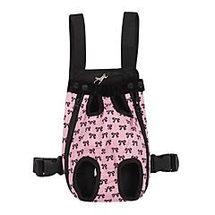 Kat / Hond Dragers & Reistassen / voorzijde Backpack Huisdieren Hoesjes draagbaar / Strik roze katoen