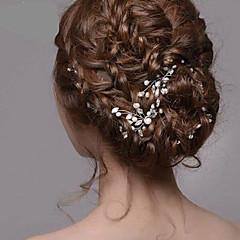 ασημένια κοσμήματα μαργαριτάρι φουρκέτες rhinestone μαλλιά των γυναικών για το γαμήλιο γλέντι