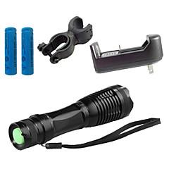 LED zseblámpák Töltők LED 4000 Lumen 5 Mód Cree XM-L T6 18650 AAA Állítható fókusz Ütésálló Csúszásgátló markolat Újratölthető Vízálló