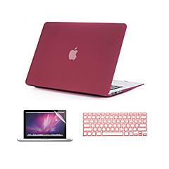 """3 in 1 drijfzand matte tas met toetsenbord hoes en screen protector voor macbook pro 13 """"/ 15 '' met retina"""