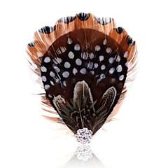 Γυναικεία Φτερό Φτερό Μαύρο/Άσπρο Κοσμήματα Γάμου Πάρτι Causal