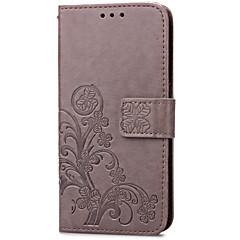 For Samsung Galaxy etui Kortholder Pung Med stativ Flip Præget Etui Heldækkende Etui Blomst Kunstlæder for Samsung S5 Mini S4 Mini S3 Mini