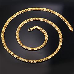 Kadın Zincir Kolyeler Açıklama Kolye Circle Shape Cross Shape Altın Kaplama Moda kostüm takısı Mücevher Uyumluluk Düğün Parti Özel Anlar
