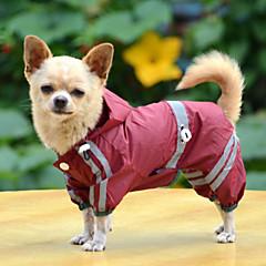 Hond Regenjas Hondenkleding Waterdicht Effen Geel Rood Groen