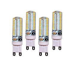 4pcs / lot 5w g9 ledet lysstift t 104 smd 3014 450-500 lm varmt hvidt / køligt hvidt dekorativt ac 220-240v