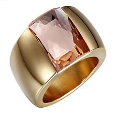 Karikagyűrűk Cirkonium Kocka cirkónia 18K arany Crossover Divat Állítható Imádni való Ezüst Aranyozott ÉkszerekEsküvő Parti Napi