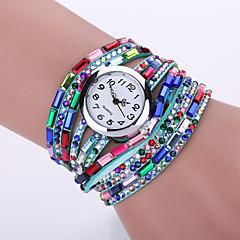 Damskie Modny Zegarek na nadgarstek Zegarek na bransoletce / sztuczna Diament Kwarcowy PU Pasmo Cętki Artystyczny NowoczesneCzarny Biały