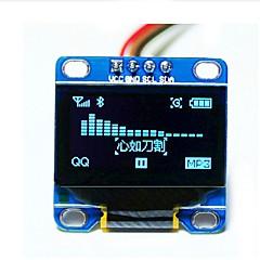"""0.96 """"ιντσών μπλε i2c IIC σειριακό 128x64 OLED οθόνη LCD, LED μονάδα οθόνη για Arduino 51 msp420 stim32 scr"""