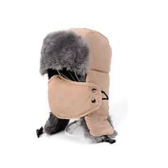 귀덮개 모자 / 털/모피 모자 스키 페이스 마스크 / 모자 남성의 보온 스노우보드 폴리에스터 레드 / 블랙 / 라이트 카키 스키 / 캠핑 & 하이킹 / 스노우스포츠 / 다운힐 겨울 스포츠