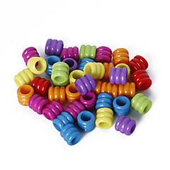 beadia válogatott színes akril gyöngyök 7x8mm cső műanyag laza gyöngyök (50g / kb 200db)