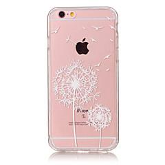 For iPhone 6 etui iPhone 6 Plus etui Ultratyndt Transparent Mønster Etui Bagcover Etui Mælkebøtte Blødt TPU for AppleiPhone 6s Plus/6