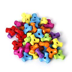 beadia válogatott színes akril gyöngyök 10mm műanyag távtartó laza gyöngyök (50g / kb 220pcs)