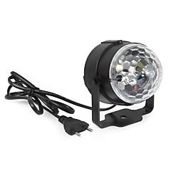 3W Festoon LED-lavavalaistus Pyörivä 1 Teho-LED 360 lm RGB Ääniaktivoitu / Koristeltu AC 85-265 V 1 kpl