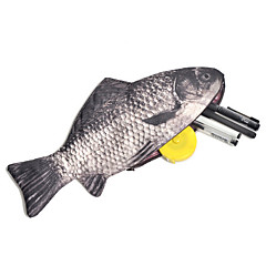 물고기 디자인 창조적 인 필통 가방 학교 사무 용품 귀여운 재미 생일 선물