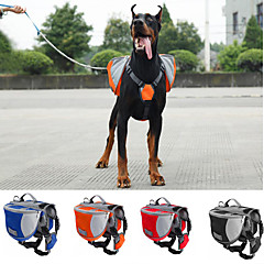Σκύλος Αντικείμενα μεταφοράς & Σακίδια ταξιδίου πλάτης Dog Pack Κατοικίδια Αντικείμενα μεταφοράς Αδιάβροχη ΦορητόΠορτοκαλί Κόκκινο Μπλε