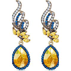 Σκουλαρίκι απομιμήσεις Sapphire Oval Shape Κρεμαστά Σκουλαρίκια Κοσμήματα Γυναικεία Μοντέρνα Γάμου / Πάρτι / Καθημερινά / CausalΚρύσταλλο