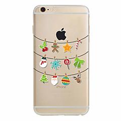 용 아이폰7케이스 / 아이폰6케이스 / 아이폰5케이스 울트라 씬 / 패턴 케이스 뒷면 커버 케이스 크리스마스 소프트 TPU Apple아이폰 7 플러스 / 아이폰 (7) / iPhone 6s Plus/6 Plus / iPhone 6s/6 /